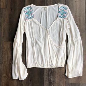 Billabong bell sleeve blouse
